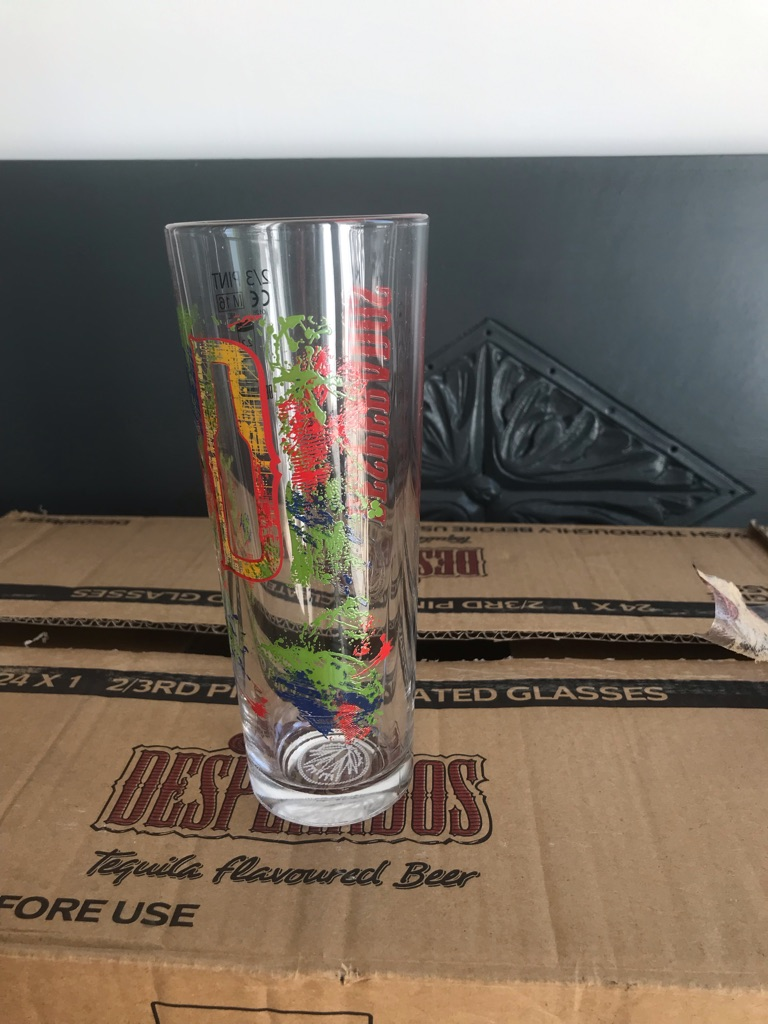 24 new Desperados 2/3 pint glasses