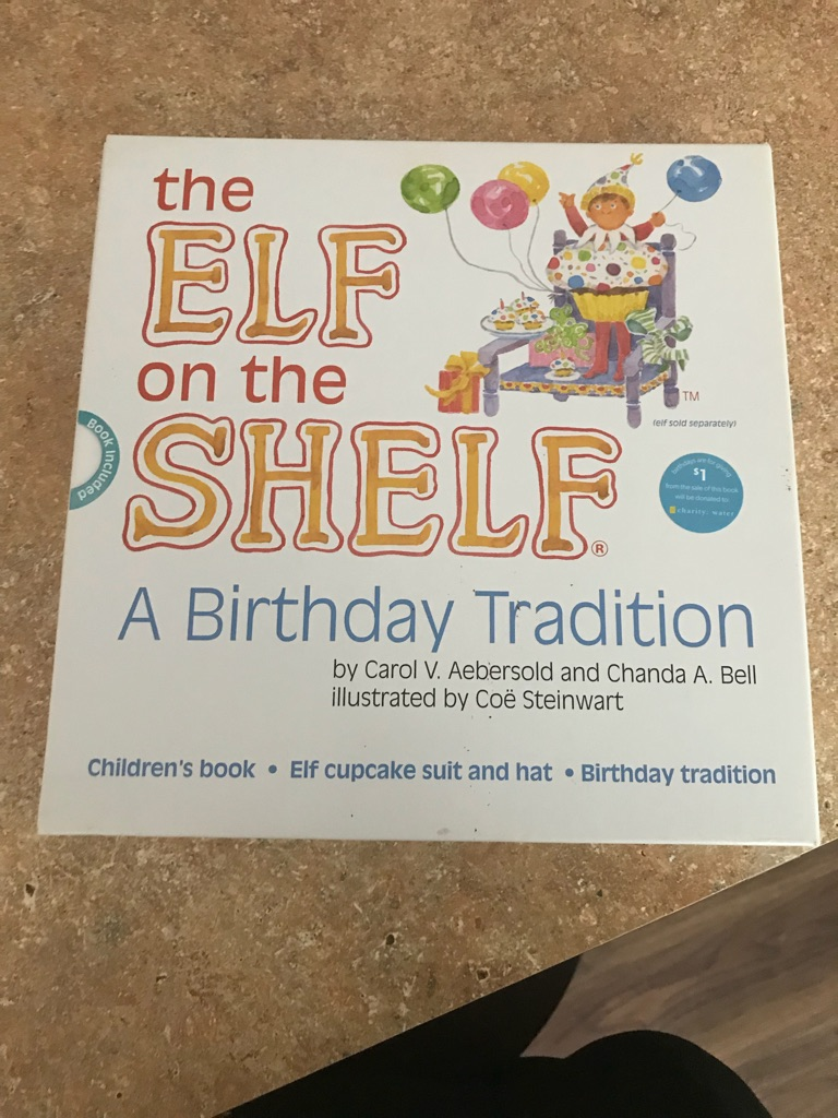 Elf on the shelf birthday edition