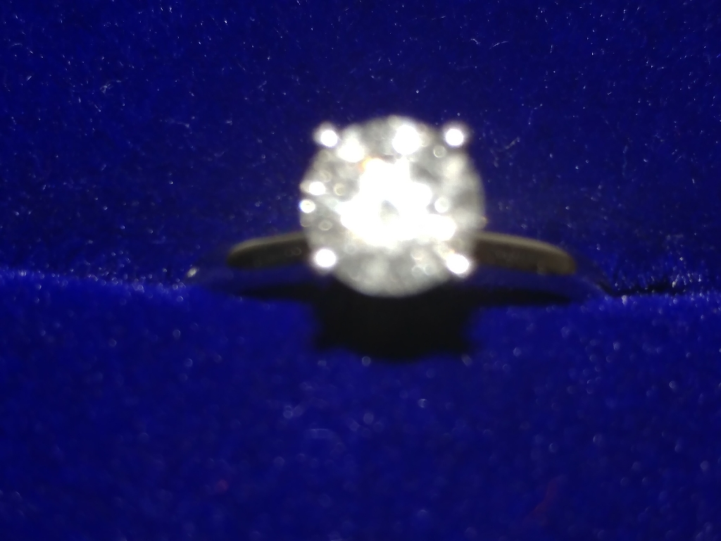 14K White Gold 1.03ct Natural Diamond Engagement Ring