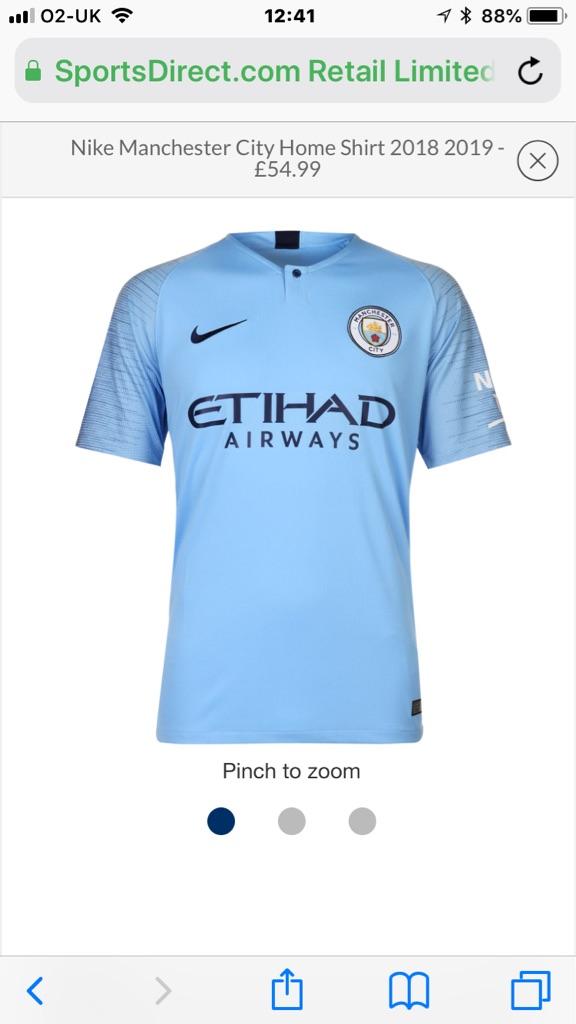 Manchester City Football Shirts 2018-2019 player version