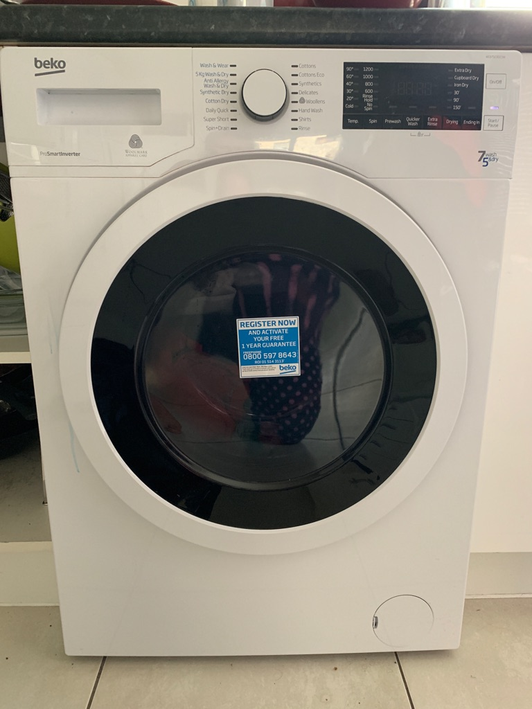 Almost new Beko washer/dryer