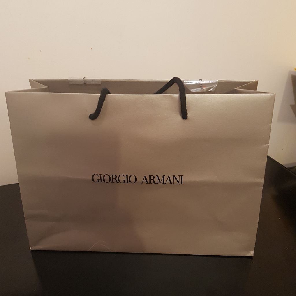 Used designer gift bag