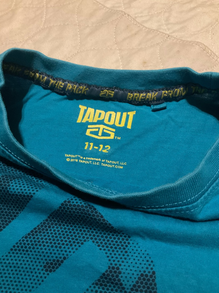 Tapout t shirt 11-12 years