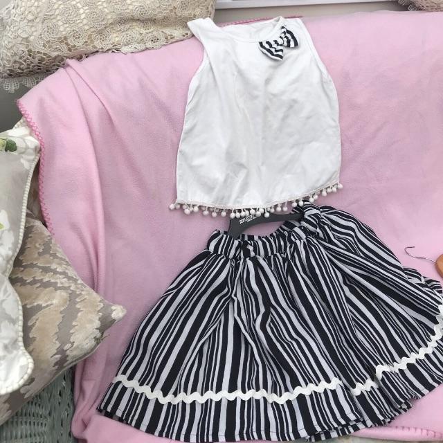 Zebra cute top and skirt