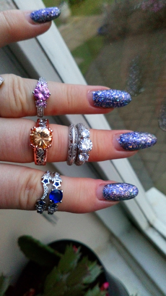 New silver plated rings