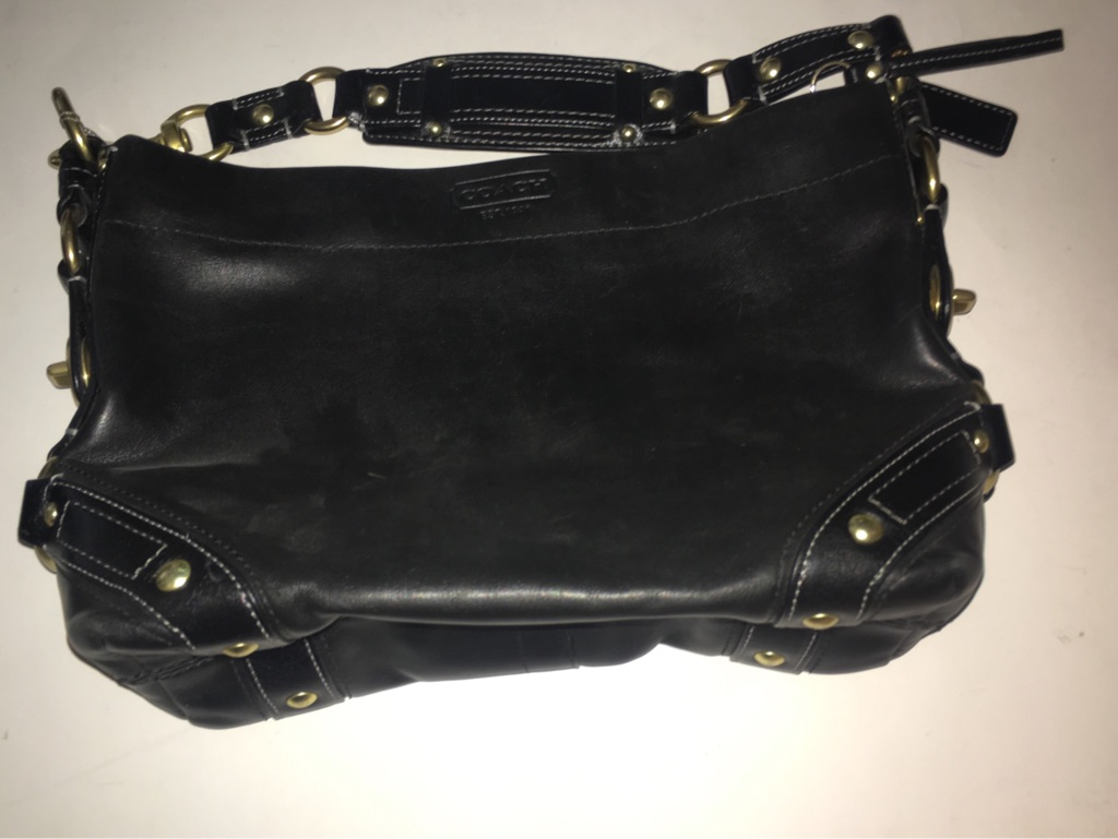 Coach Black Leather Carly bag