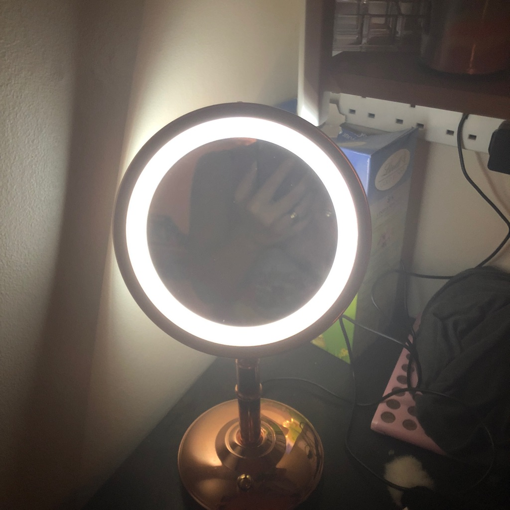Mirror with light