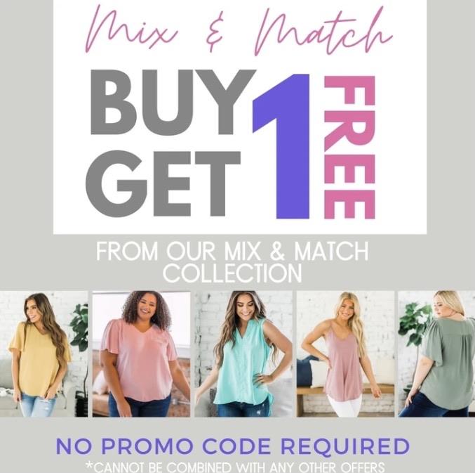 Promo buy 1 get 1 free