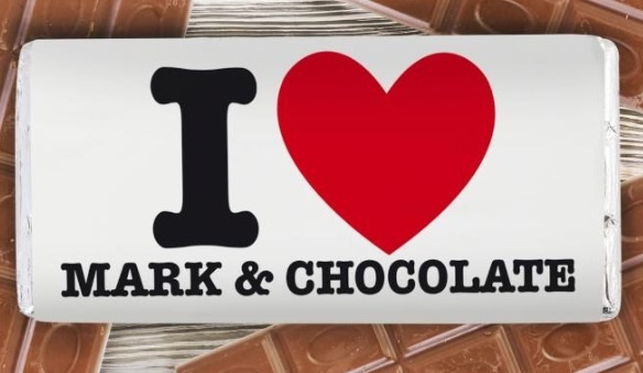 I heart personalised chocolate
