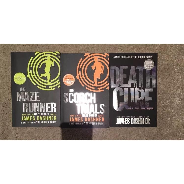 The maze runner series by James dashner all 3 books