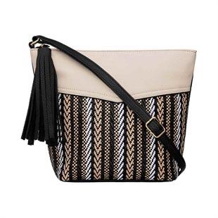 Weave cross body bag