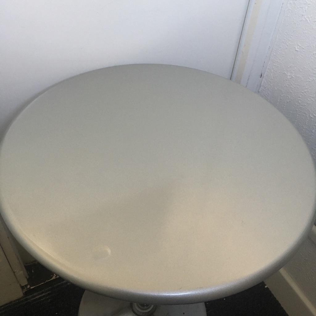 Round Circle Chrome Table