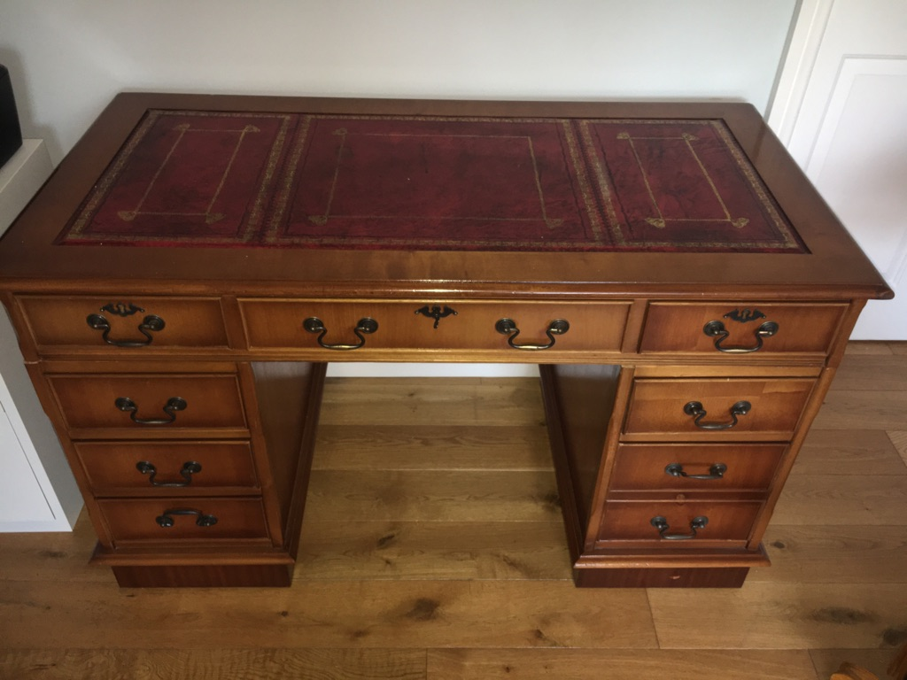Edwardian style desk with matching chair