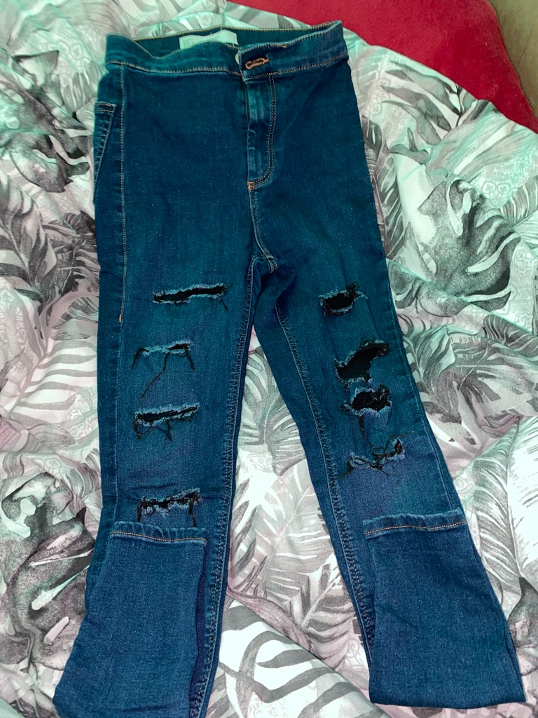 Topshop 2 Joni jeans high waste ripped/normal