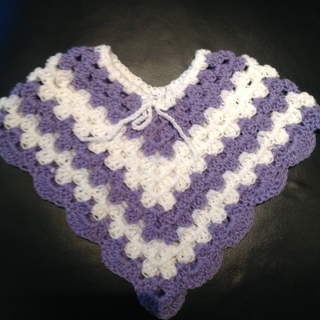 Handmade Crocheted Baby Poncho