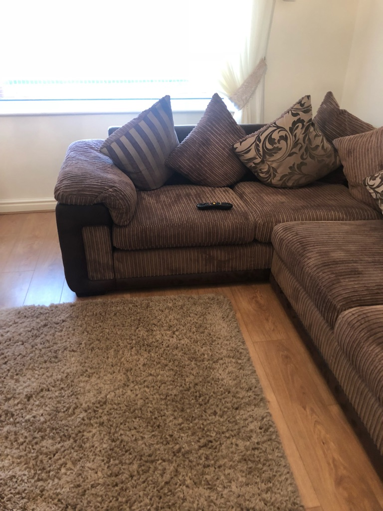 Brown corner couch