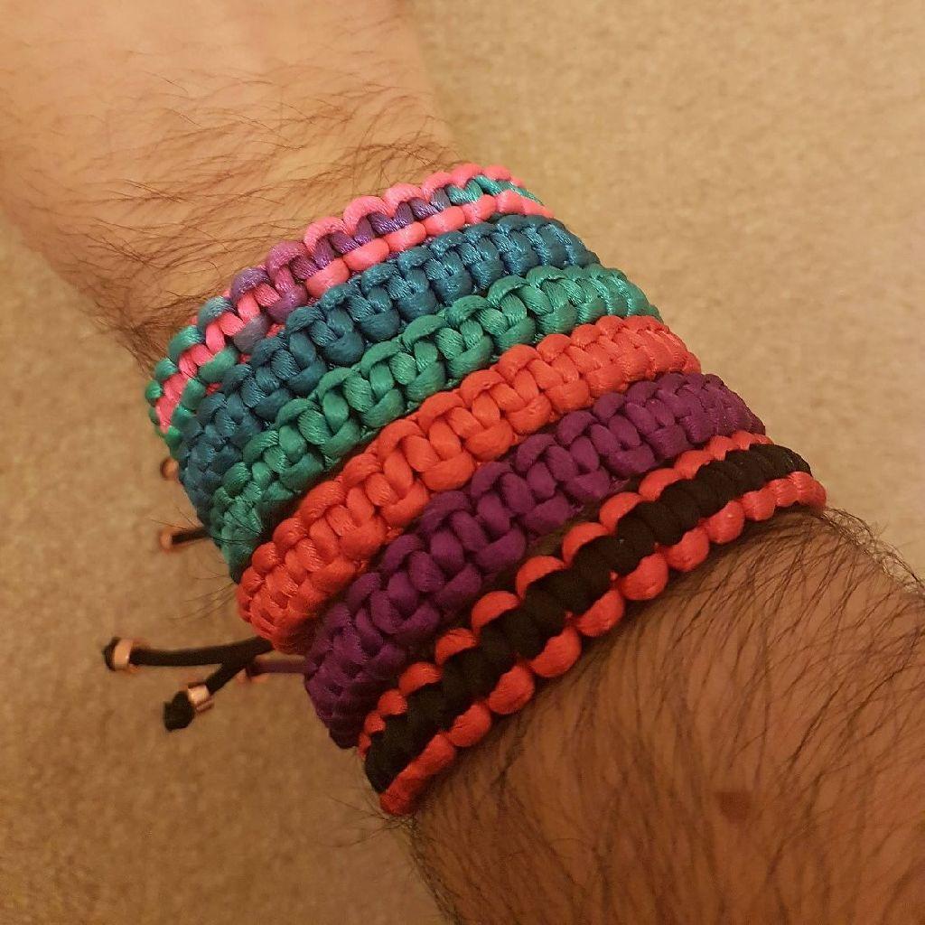 Handmade macrame bracelets