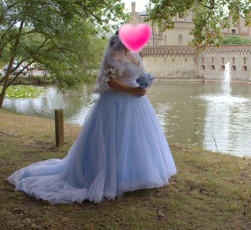 Sincerity Wedding Dress 3621 Plus Size Size 22 Blue