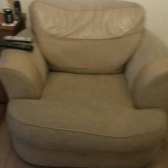 Large beige arm chair
