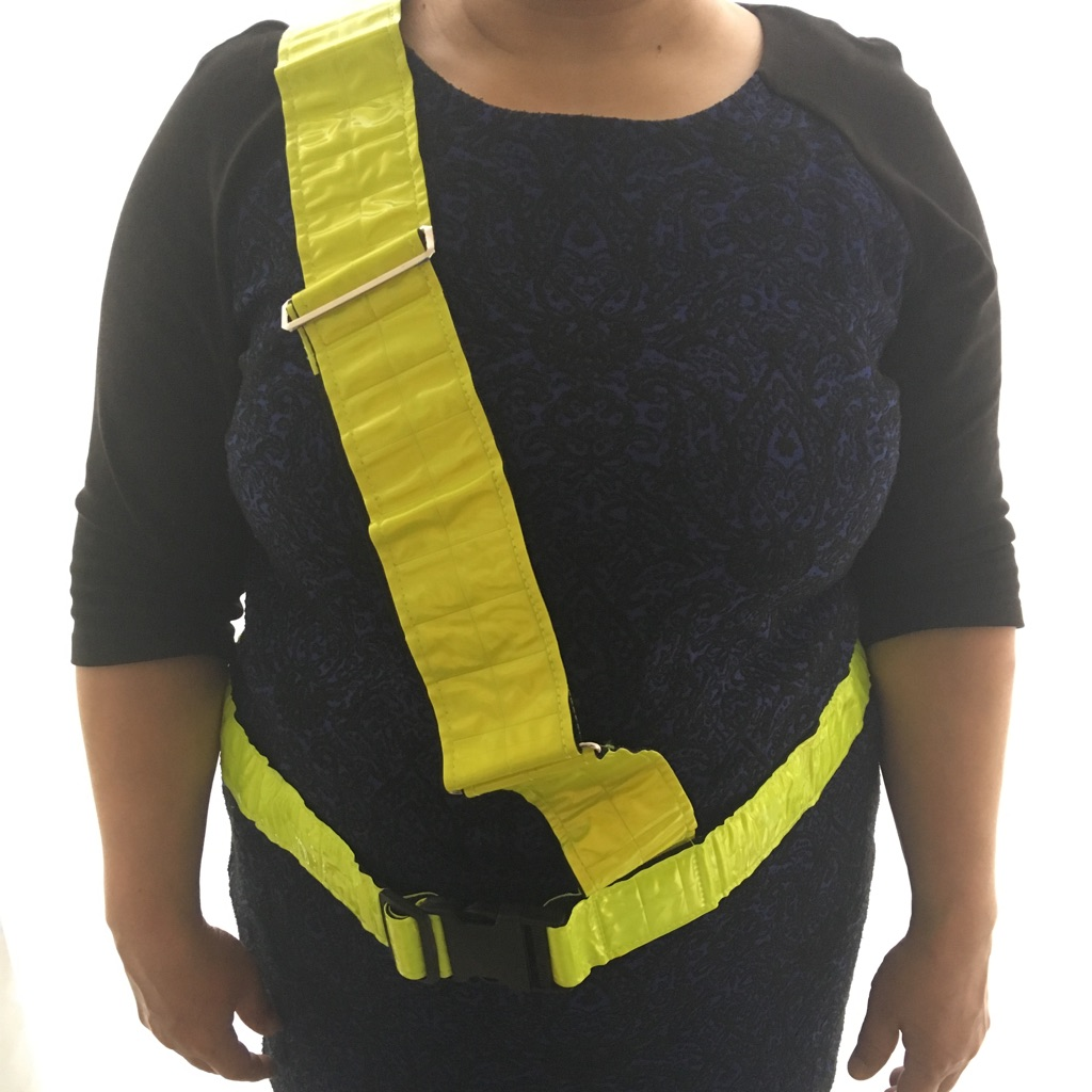 Fluorescent cycling belt