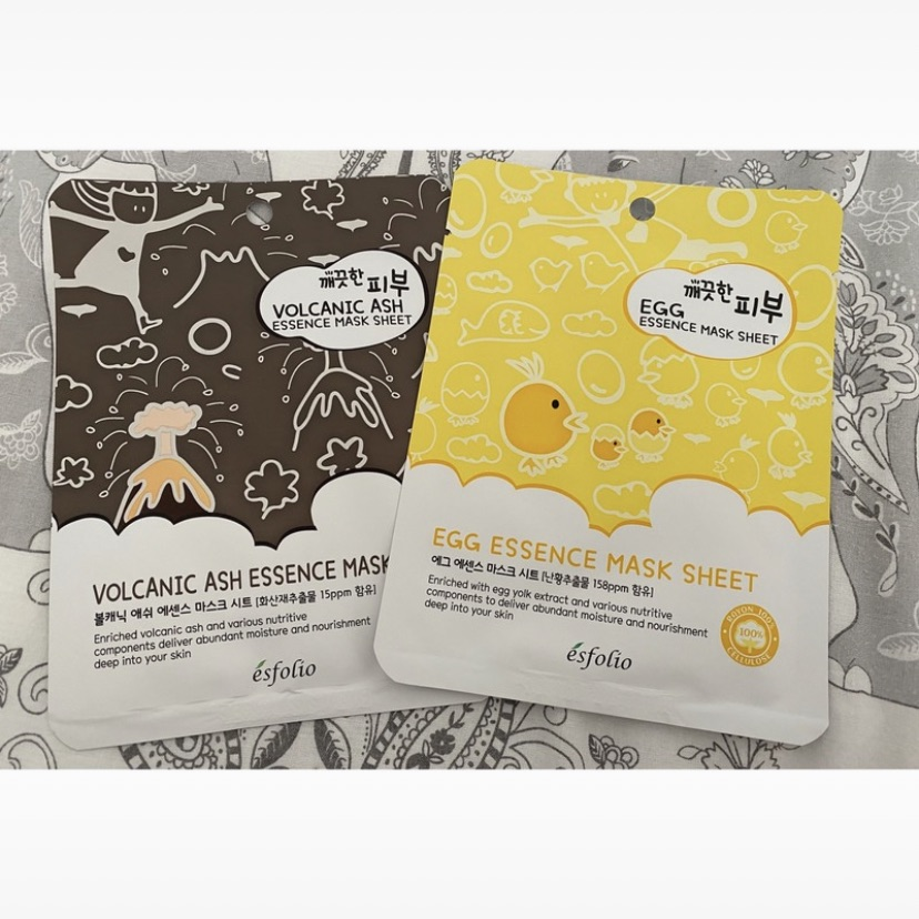 2 Esfolio sheet masks