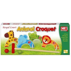 My royal wooden animal croquet set