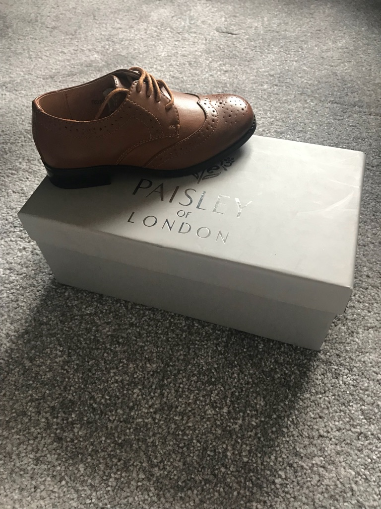 Boys smart Brown brogue shoes