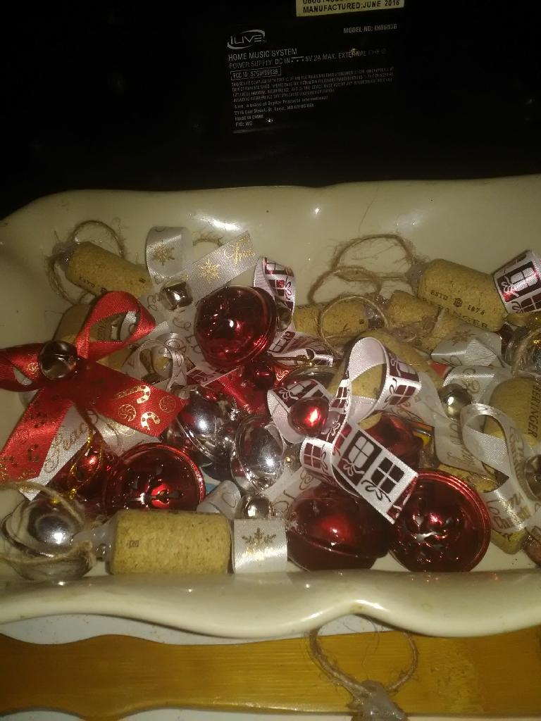 Jingle Bell cork ornaments
