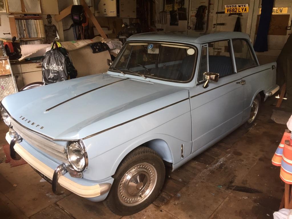 Triumph herald 13/60 saloon classic car