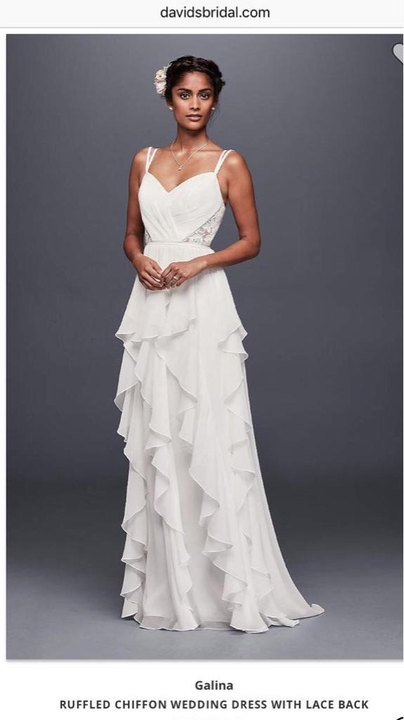 Davids bridal wedding dress size8