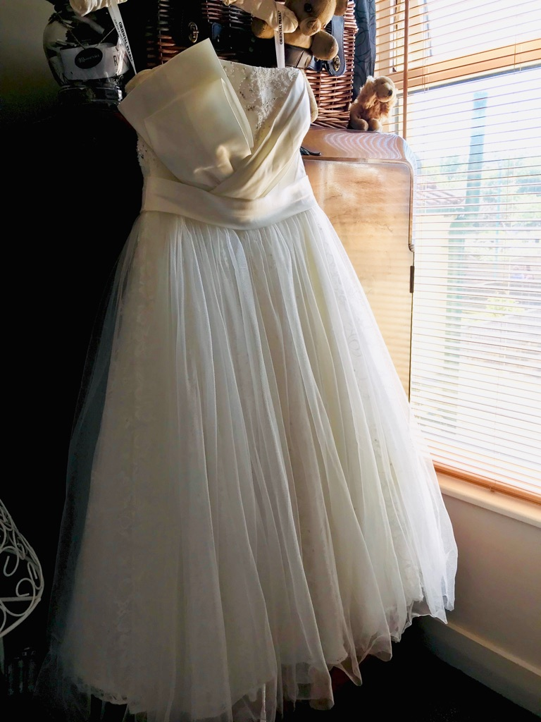 Ivory Tea length style wedding dress