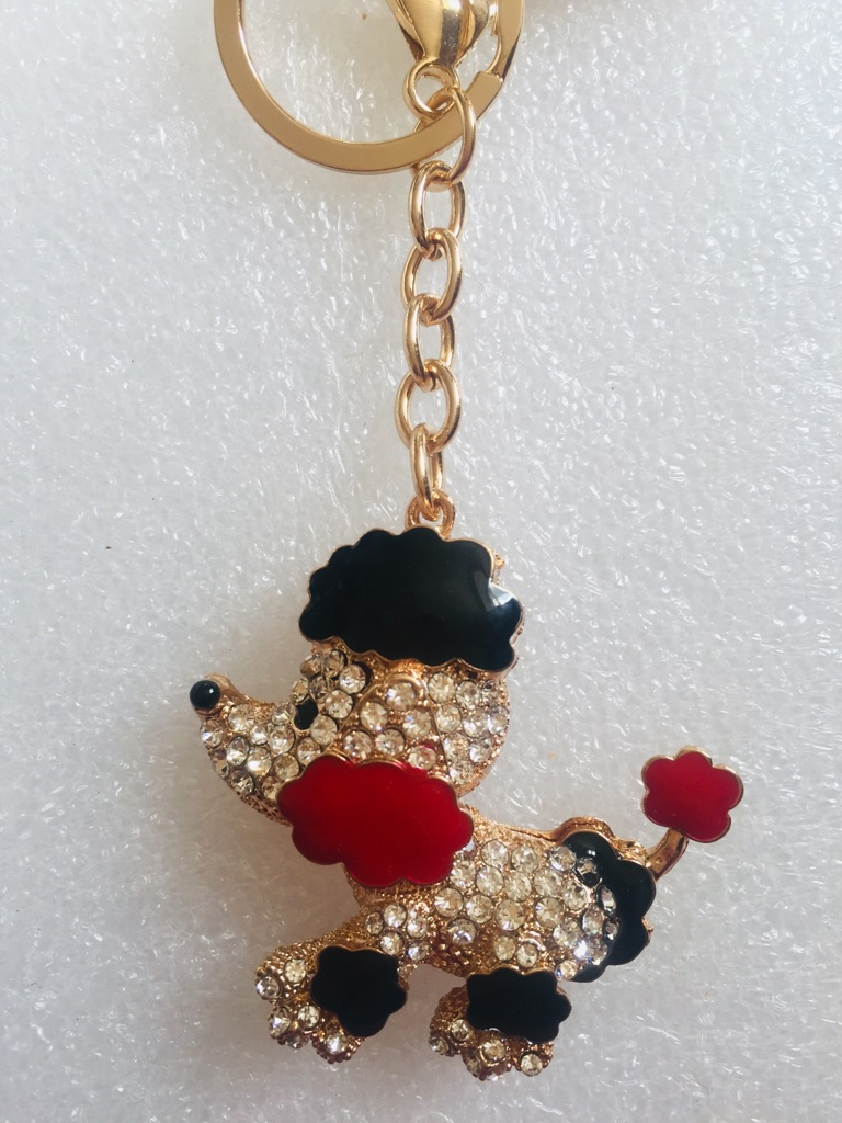 Keys ring holder with puppy ### 1