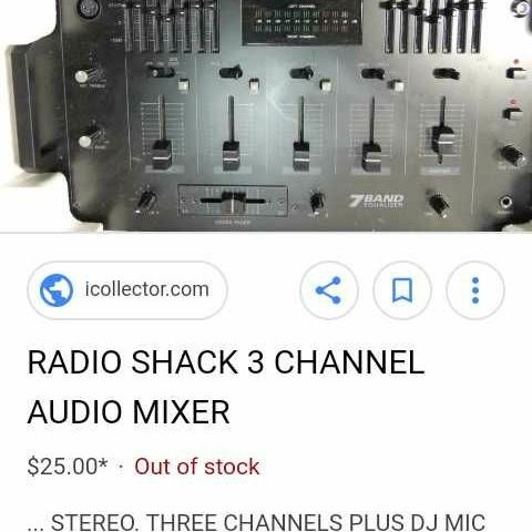 Radio shack 7 band equalizer