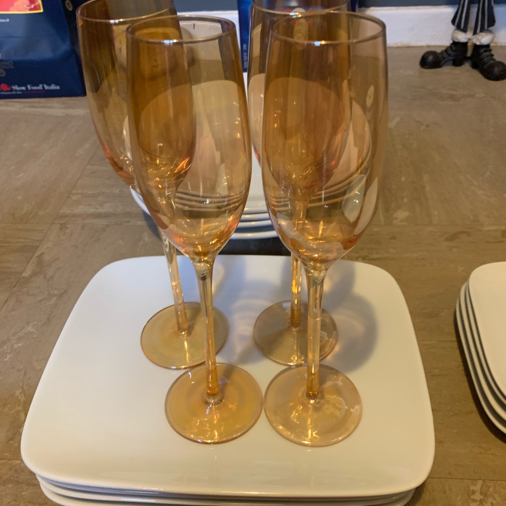 New champagne flutes