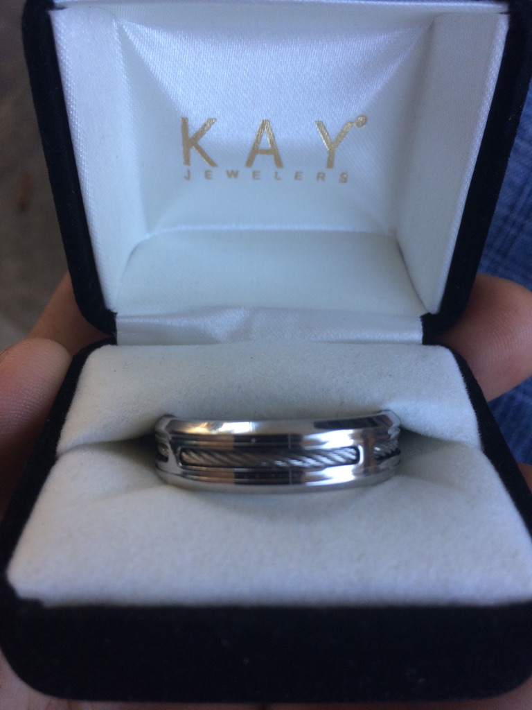 Kay jewelers stainless steel wedding ring