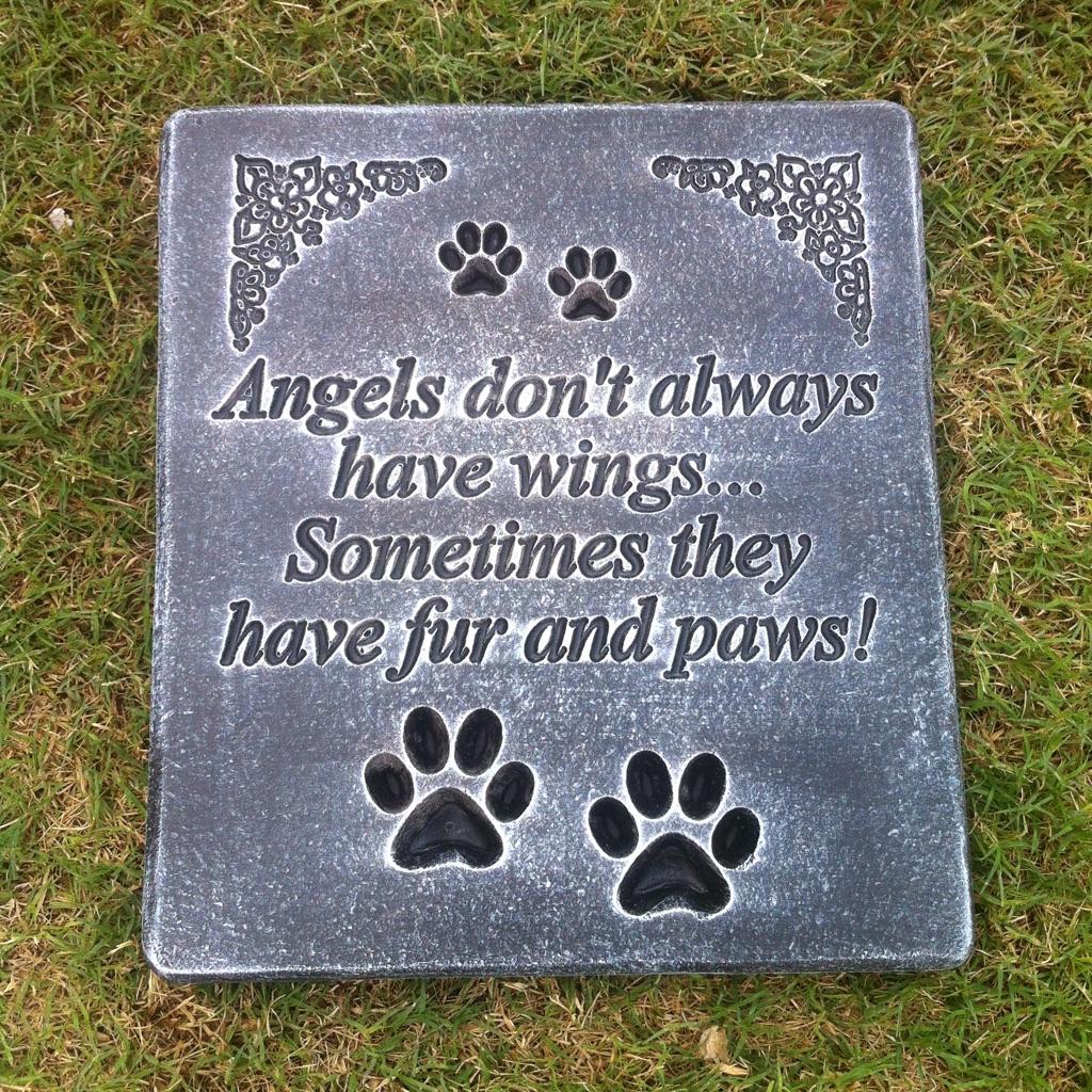 Concrete memorial pet memorial plaque
