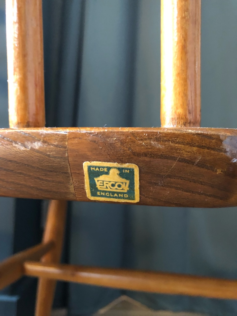 Ercol Windsor Ladder Back Chairs - set of four