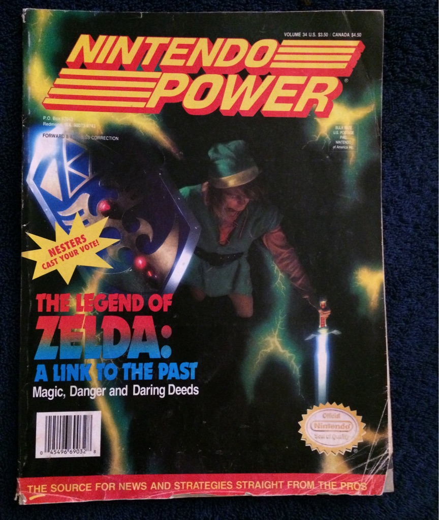 Nintendo Power Magazine The Legend of Zelda A Link to the Past 🎮🗞🧝🏻♀️