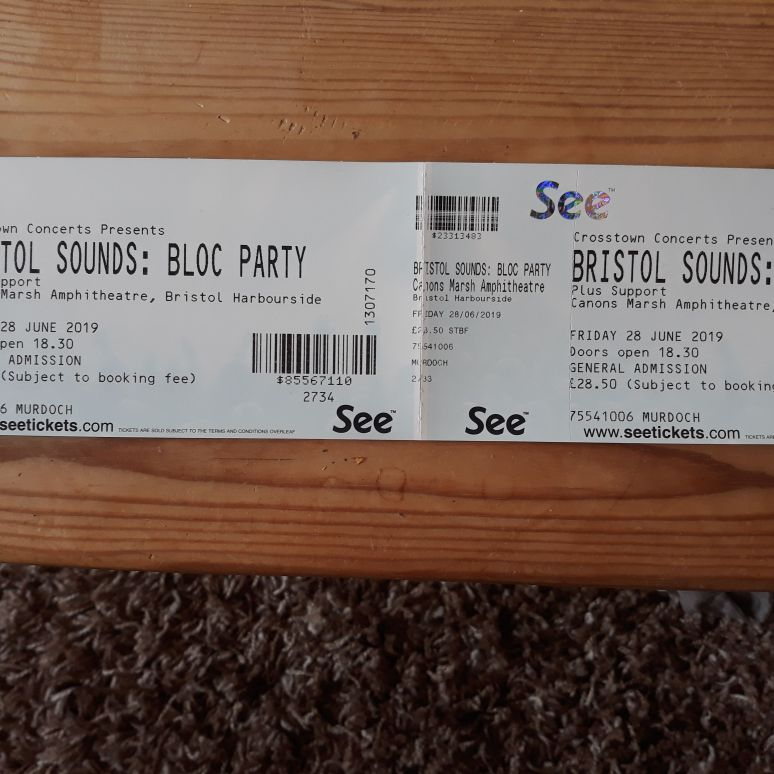 2 x bloc party tickets Bristol