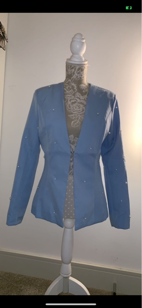 Blue pearl blazer