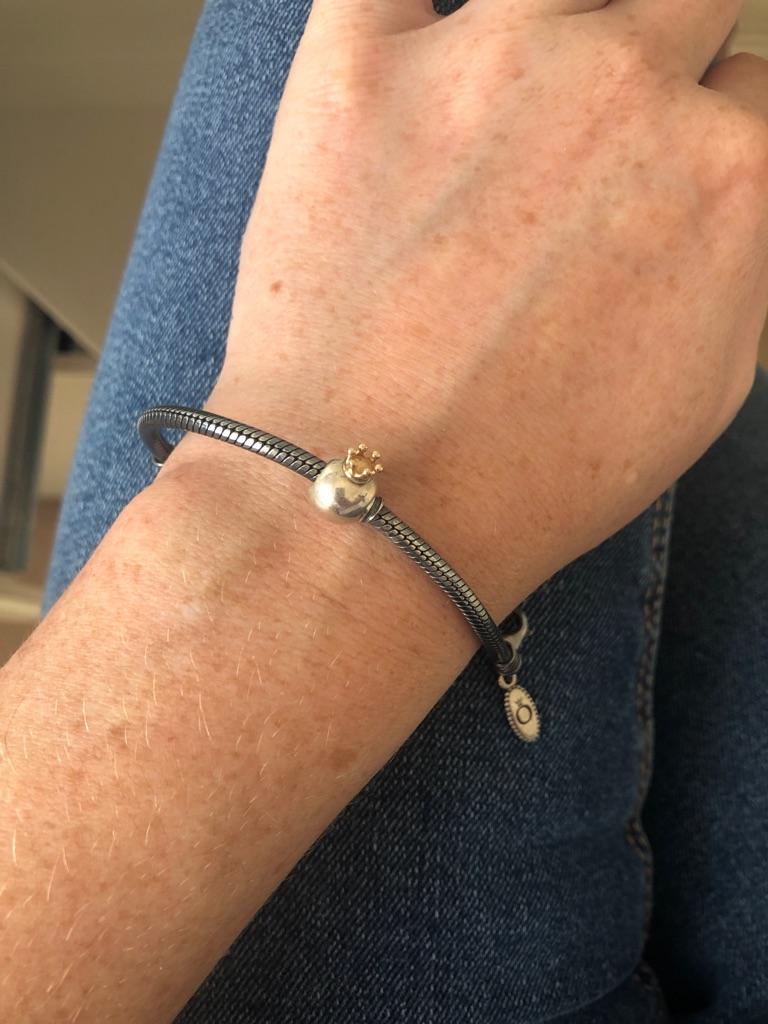 Genuine pandora oxidised bracelet