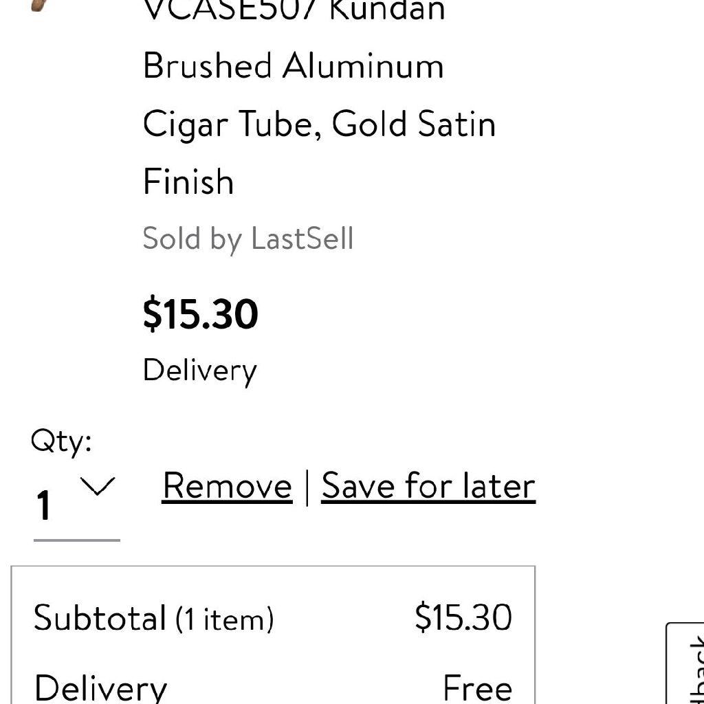2 New Airtight Kundan Brushed Aluminum Cigar Tubes With A Gold Satin Finish.
