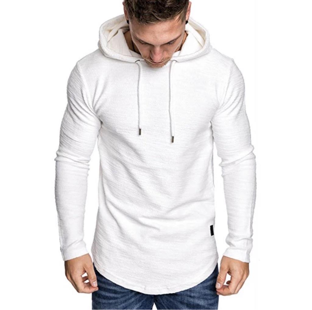 Mens hooded long sleeve top