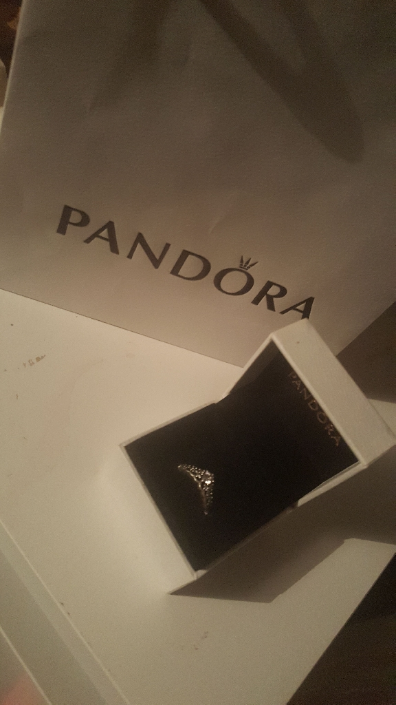 Pandora silver ring fairy tale Tiara size 54