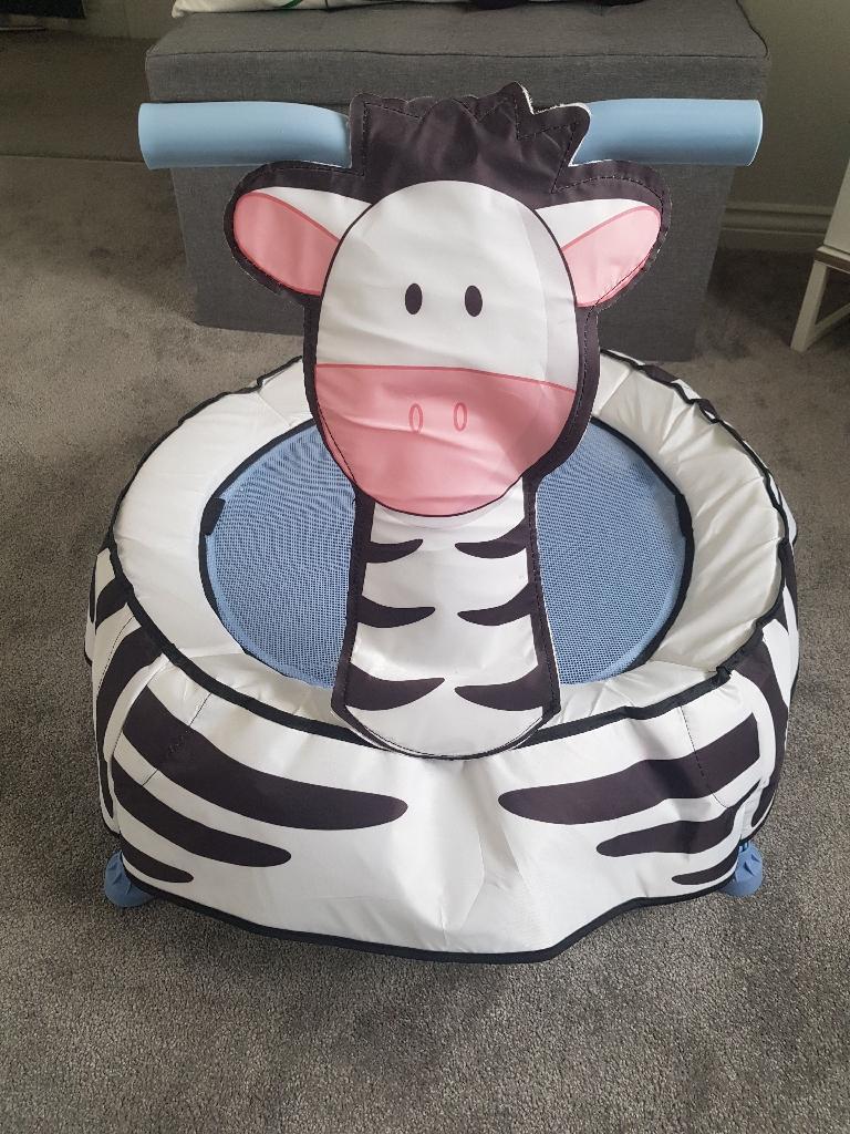 Toddler Zebra Trampoline