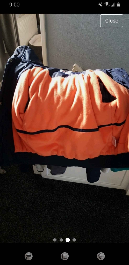 Kwpn waterproof coat unisex medium