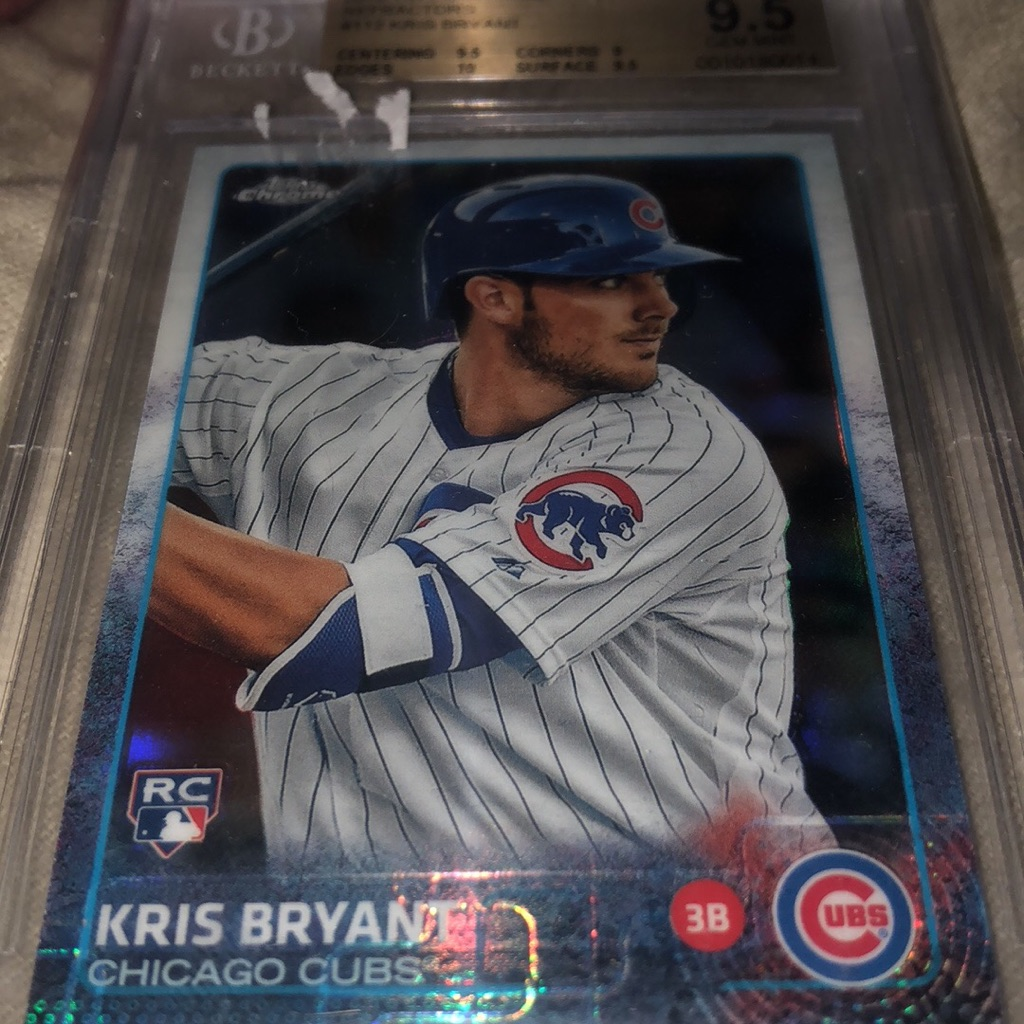 2015 Topps chrome kris Bryan 9.5 graded refractor!