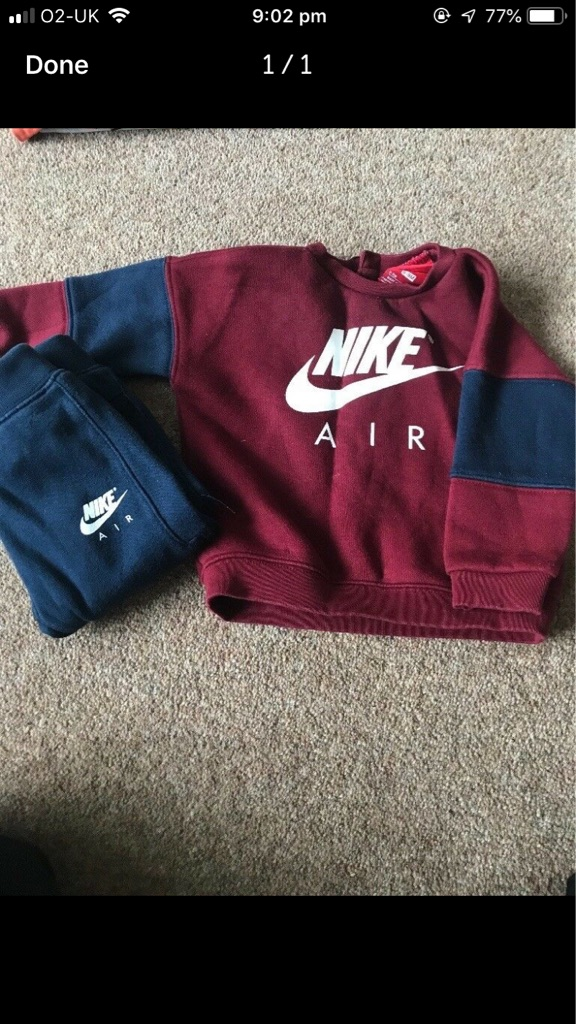 Nike boys tracksuit