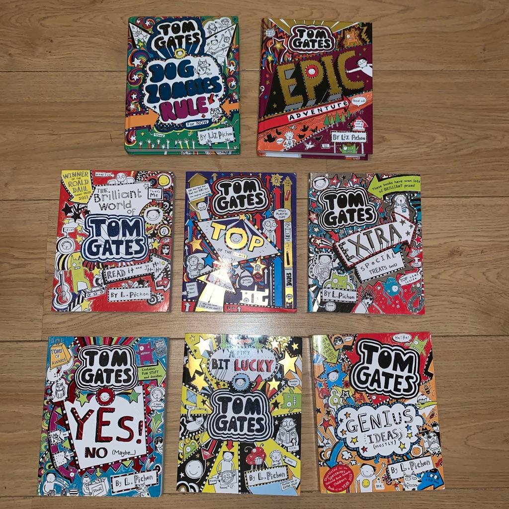 8x children books by Tom Gates