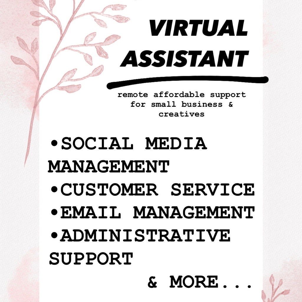 VIRTUAL ASSISTANT / SOCIAL MEDIA MANAGER/ ADMIN SUPPORT